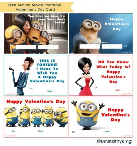 minion valentines day card printable activities archives on the with mrs