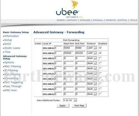 how to setup forwarding ubee dvw 3201b router forwarding steps