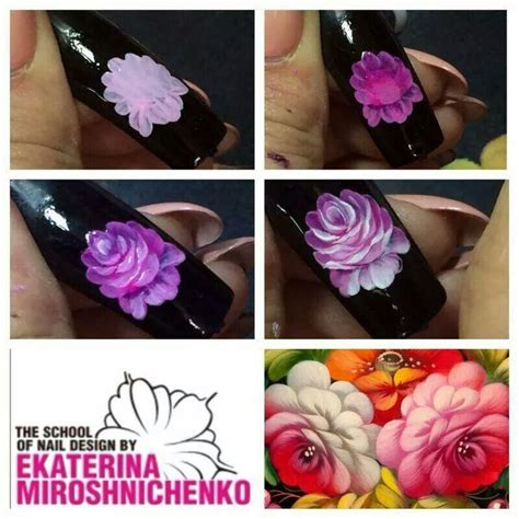 russian nail art tutorial zhostovo by ekaterina nail art tutorial step by step