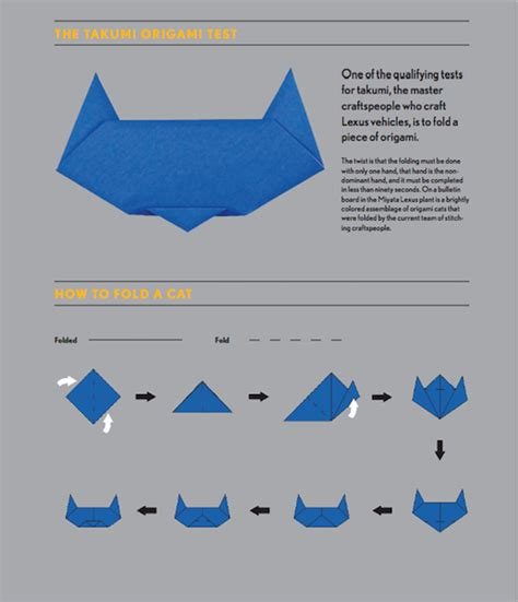 Origami Cat Ears - take the takumi origami challenge lexus