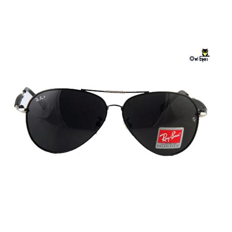 ray ban rb diamond hard black aviator replica sunglasses