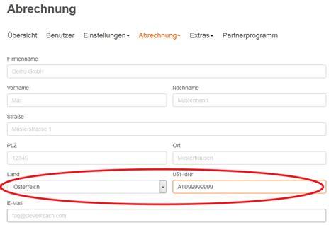 Rechnung Schweiz Lieferung Deutschland Umsatzsteuer kann ich eine rechnung ohne mwst bekommen cleverreach