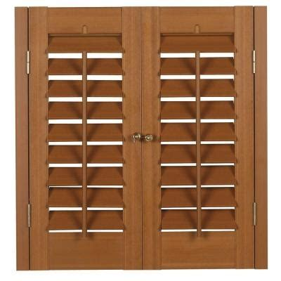 Home Depot Wood Shutters Interior Plantation Faux Wood Oak Interior Shutter Price Varies By Size