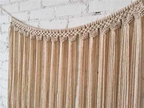 hanging drapes on walls large macrame wall hanging curtain