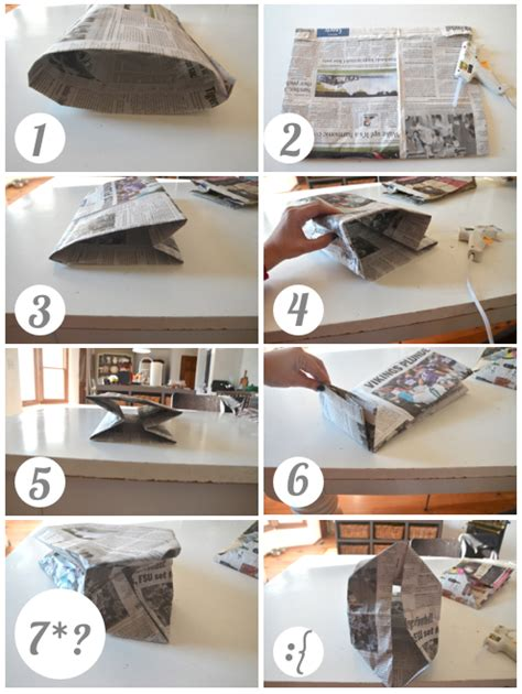 Paper At Home - how to make a newspaper bag