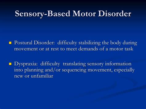 ppt sensory processing disorder identification and