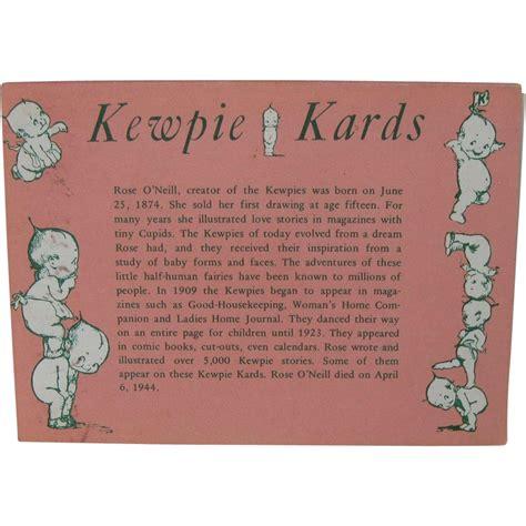 kewpie kards o neill postcard kewpie kards in original
