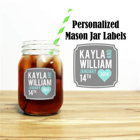 ball mason jar labels for gifts the country chic cottage custom mason jar labels wedding favors stickers thank