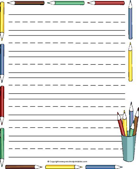 Paper With Preschoolers - www preschoolprintables writing paper