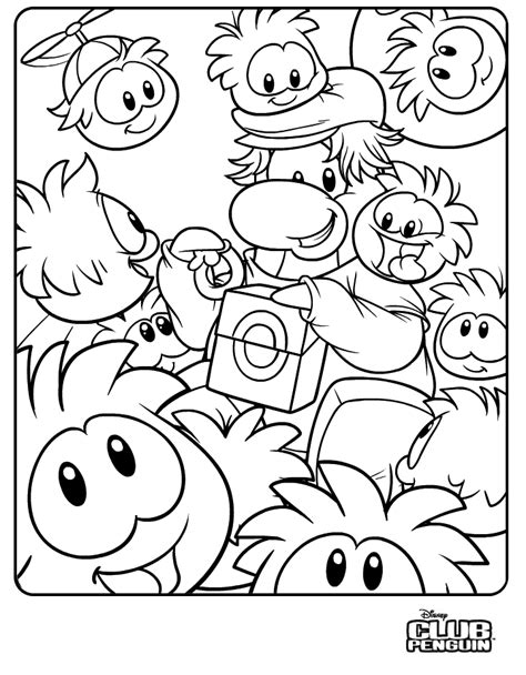Club Penguin Coloring Page club penguin coloring pages of puffles coloring home