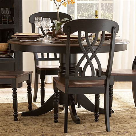 ohana black dining room set casual dinette sets