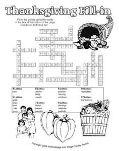 thanksgiving crossword puzzles printable thanksgiving puzzles for adults printable submited images
