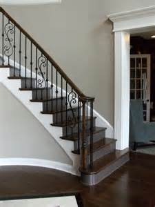 dark wood banister new home staircases oak craftsman and more styles and trends staircases
