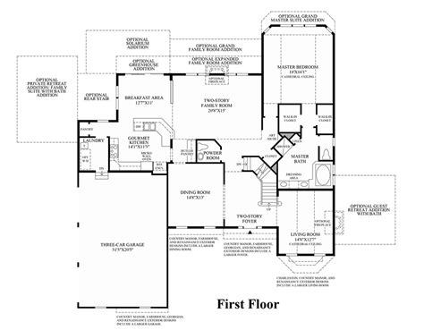 waterford residence floor plan lenah mill the executives the waterford ii home design