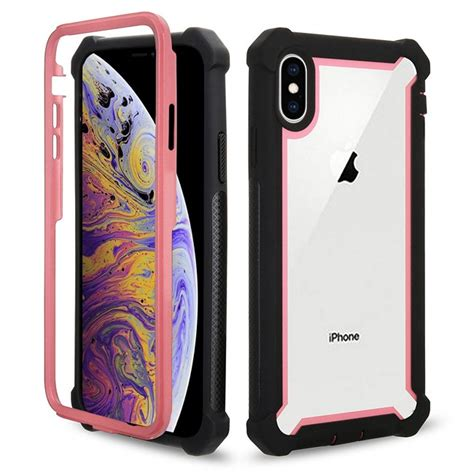 iphone xs max combo case pink  mobilize phone