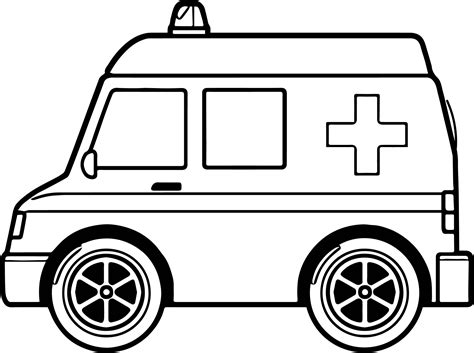 Midi Ambulance Coloring Page Wecoloringpage Com Ambulance Pictures To Colour