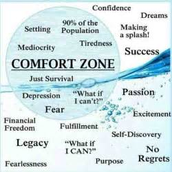 stepping out of my comfort zone comfort zone quotes like success