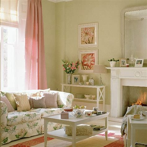 floral couch living room pastel room with floral sofa and pink curtains