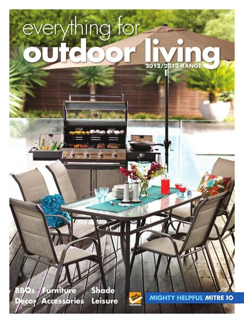 Mitre 10 Outdoor Furniture Catalogue by Everything For Outdoor Living By Sunlite Mitre 10 Issuu