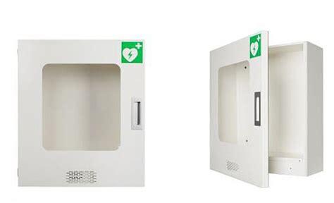 blech wandschrank robuster wandschrank f 252 r aed defibriallator mit alarm