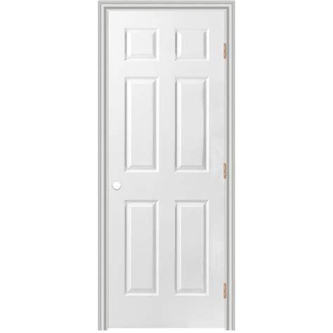 Shop Reliabilt 6 Panel Hollow Core Textured Molded 28 Inch Interior Door