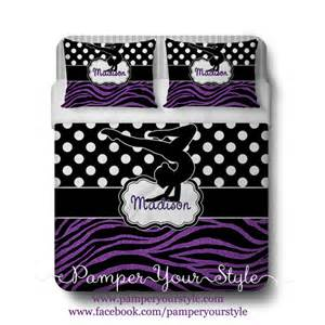 Polka Dot Comforter Full Gymnastics Comforter Or Duvet With Matching Shams