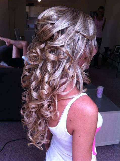 half up half down prom hairstyles pinterest h a i r