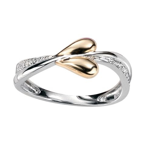 white and gold l yellow and white gold ring