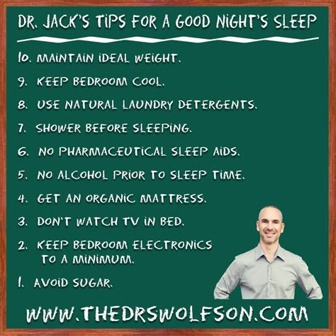 For A Nights Sleep by Infographic Of Dr S Suggestions For A Better S