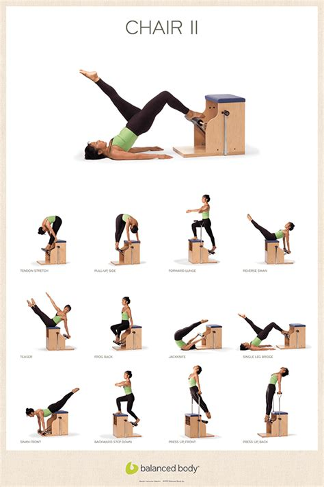 pilates chair abdominal exercises exercise posters posters cards gifts studio