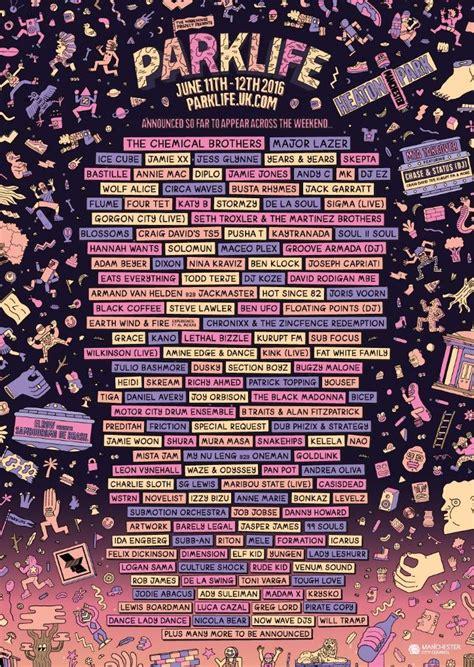 Best 25+ Festival posters ideas on Pinterest | Music ... Parklife Graphics