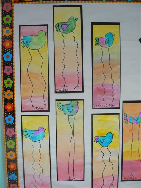 crafts for 1st graders mrs t s grade class dali style birds