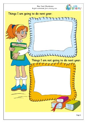 new year key stage 1 new year resolutions 1 worksheet for key stage 1