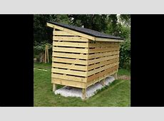 How to build a Firewood-Storage Shed - YouTube Firewood Storage