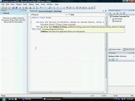 how to a basic commands how to make command button visual basic 2008