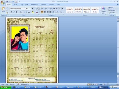 Kalender Photo Dg Photo Anda Sendiri cara membuat kalender dg ms word 2007 forester untad
