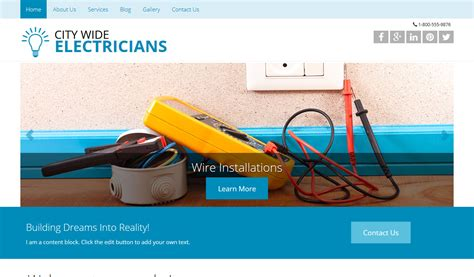 Responsive Website Design Responsive Website Templates Electrician Website Template