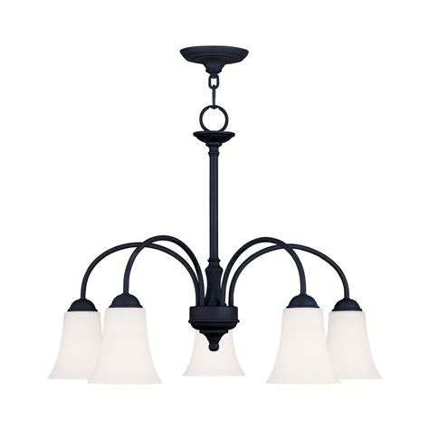 Shop Livex Lighting Ridgedale 5 Light Black Chandelier At Lowes Chandeliers Black
