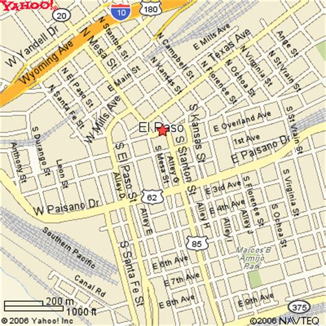 city map of el paso el paso map and el paso satellite image