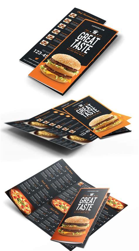 brochure catalog design india bi fold tri fold fast food menu trifold brochure free psd download