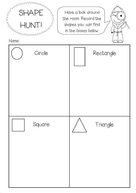 shapes worksheet reception 2d shapes homework help