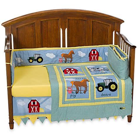 John Deere Tractor 4 Piece Crib Bedding Set Bed Bath Deere Crib Bedding Set