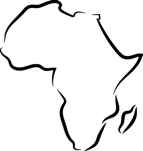 clip outline map outline of africa png clipart best