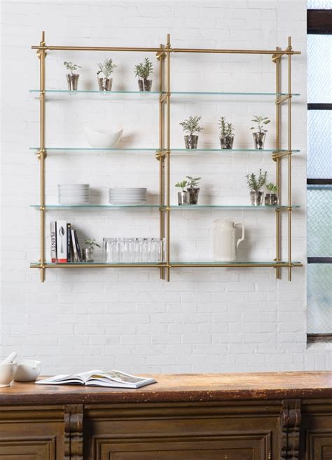 12 ideas of hanging glass shelves systems