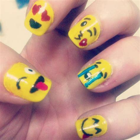 emoji nails emoji smile faces nail art my nail art pinterest