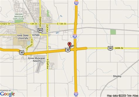 map of americinn of ames ia ames