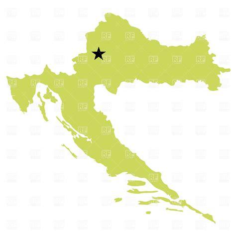 croatia map vector croatia map vector image 1021 rfclipart