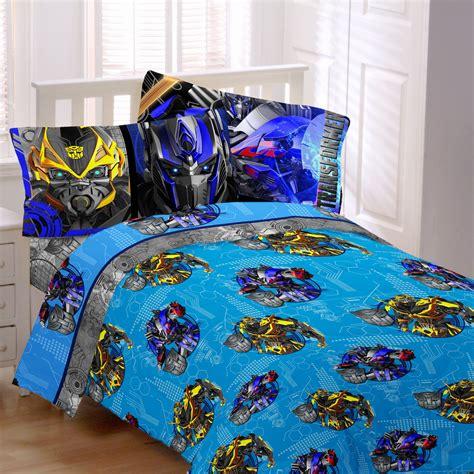 transformers  alien machine sheet set boys bedding