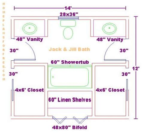 free bathroom floor plans 5
