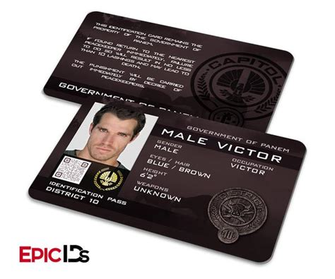 hunger id card template the hunger inspired panem district 10 quot victor